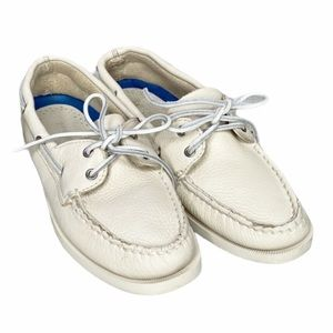 SPERRY Authentic Ice Beige Leather Boat Shoes 8